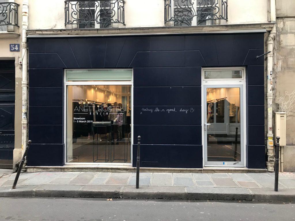 Paris showroom rental rue Charlot Fashion Week